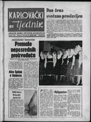 Karlovački tjednik: 1965 • 10