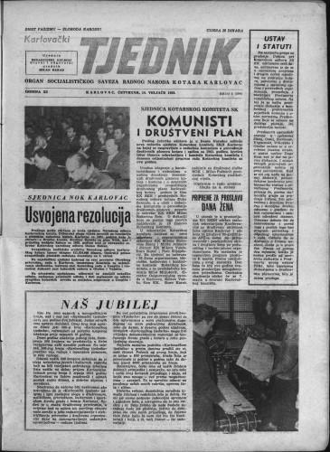 Karlovački tjednik: 1963 • 6