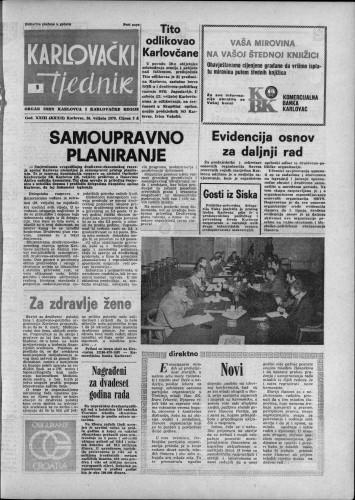 Karlovački tjednik: 1976 • 9