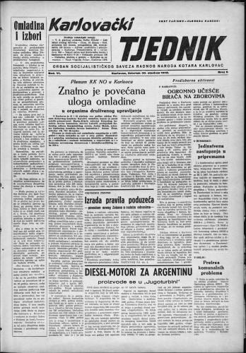 Karlovački tjednik: 1958 • 5