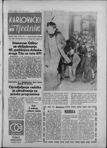 Karlovački tjednik: 1977 • 5