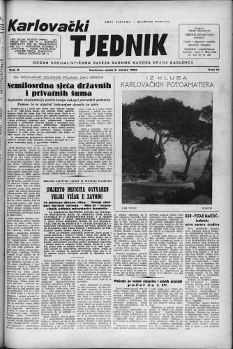 Karlovački tjednik: 1954 • 10
