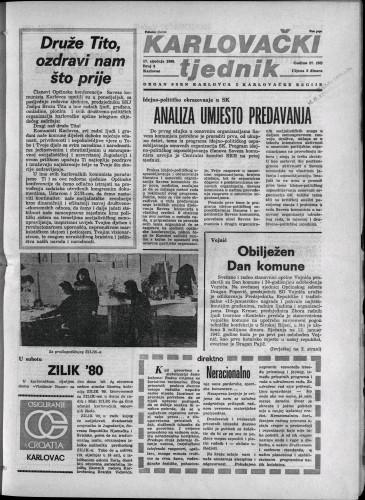 Karlovački tjednik: 1980 • 3