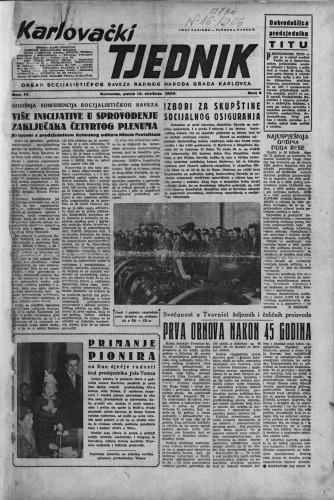Karlovački tjednik: 1956 • 2