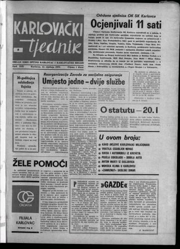 Karlovački tjednik: 1972 • 2