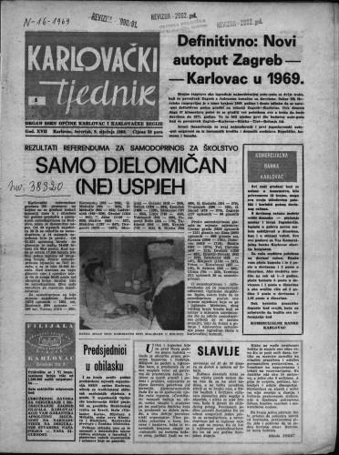 Karlovački tjednik: 1969 • 1