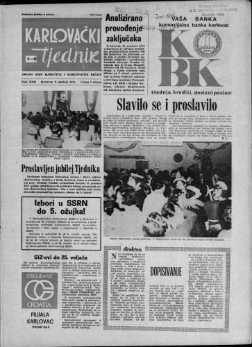 Karlovački tjednik: 1975 • 1