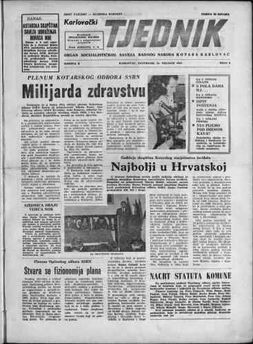Karlovački tjednik: 1962 • 6
