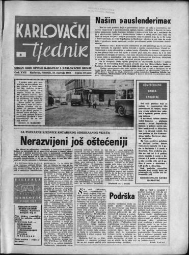 Karlovački tjednik: 1969 • 3