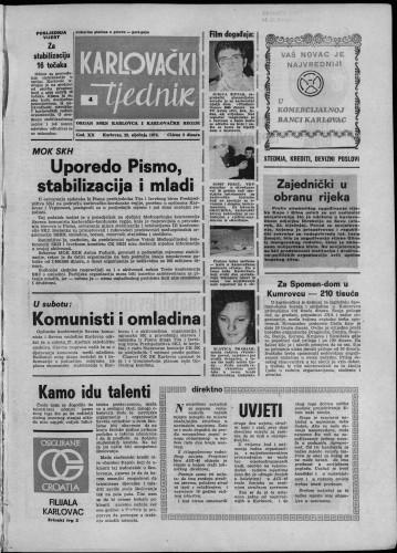 Karlovački tjednik: 1973 • 4