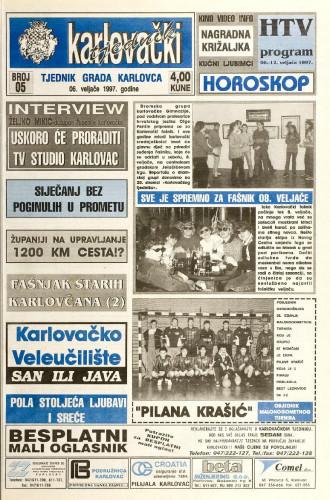 Karlovački tjednik: 1997 • 5