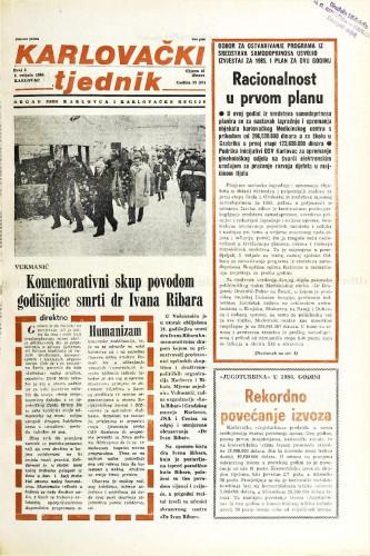 Karlovački tjednik: 1986 • 5