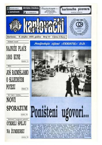 Karlovački tjednik: 1995 • 10
