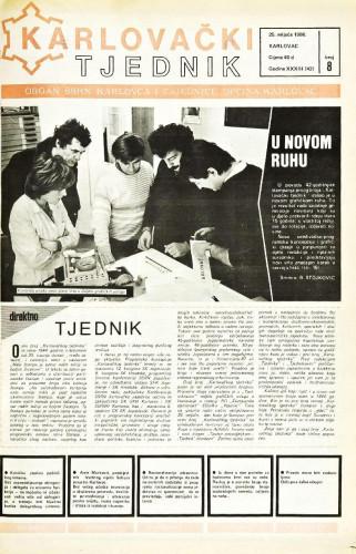 Karlovački tjednik: 1986 • 8