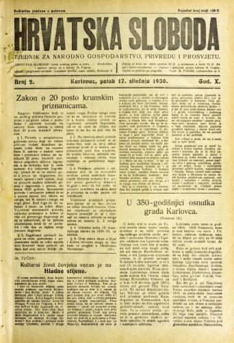 Hrvatska sloboda: 1930. • 2