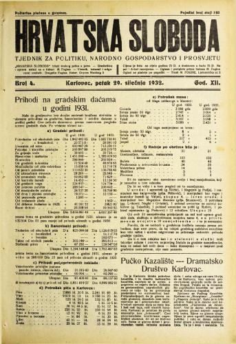 Hrvatska sloboda: 1932. • 4