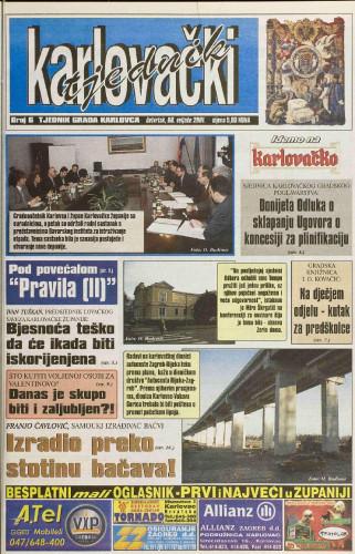 Karlovački tjednik: 2001 • 6