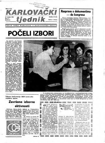 Karlovački tjednik: 1982 • 11