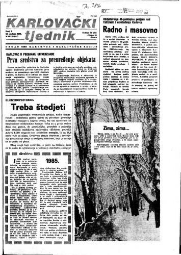 Karlovački tjednik: 1985 • 1