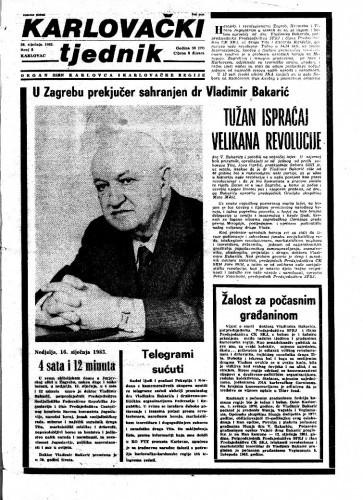 Karlovački tjednik: 1983 • 2