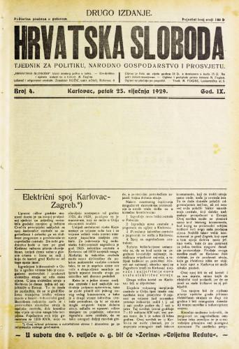 Hrvatska sloboda: 1929. • 4