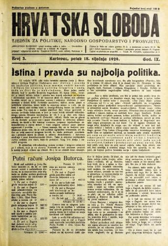 Hrvatska sloboda: 1929. • 3