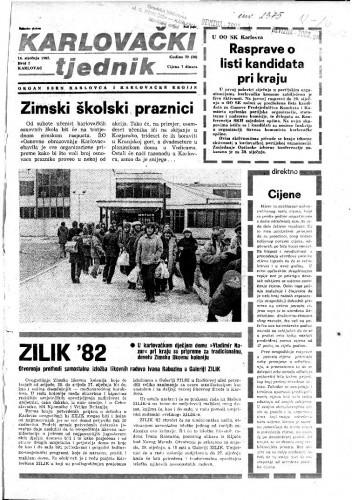 Karlovački tjednik: 1982 • 2