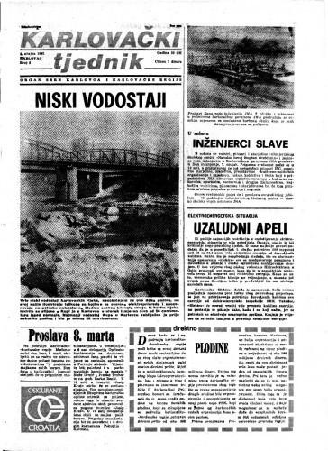 Karlovački tjednik: 1982 • 9