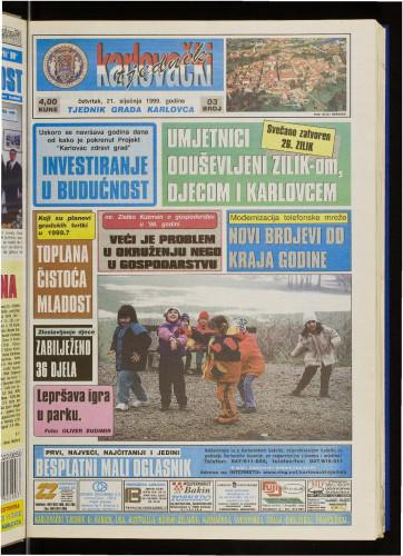 Karlovački tjednik: 1999 • 3