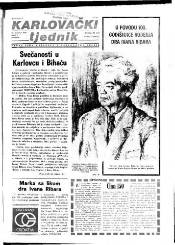 Karlovački tjednik: 1981 • 3