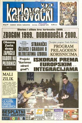 Karlovački tjednik: 2000 • 01