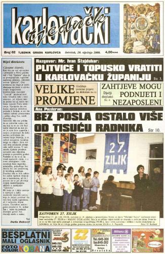 Karlovački tjednik: 2000 • 02