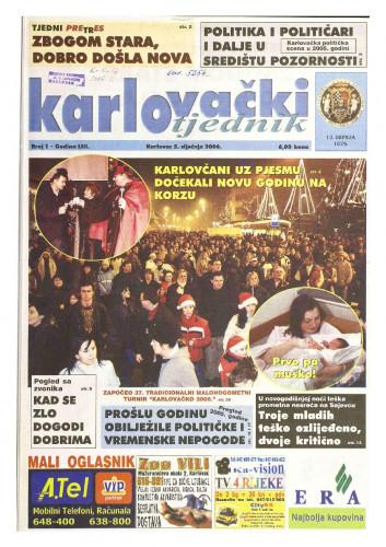 Karlovački tjednik: 2006 • 1