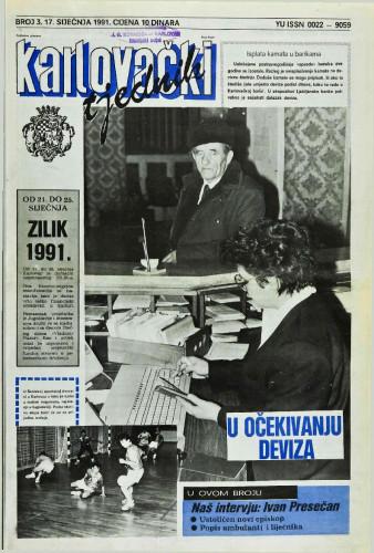 Karlovački tjednik: 1991 • 3