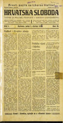 Hrvatska sloboda: 1923 • 1