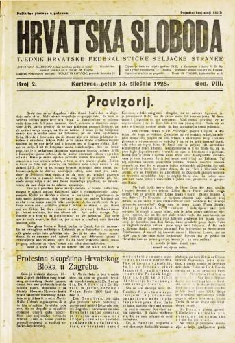 Hrvatska sloboda: 1928. • 2