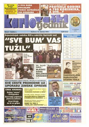 Karlovački tjednik: 2003 • 03