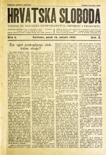 Hrvatska sloboda: 1930. • 6