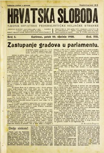 Hrvatska sloboda: 1928. • 3