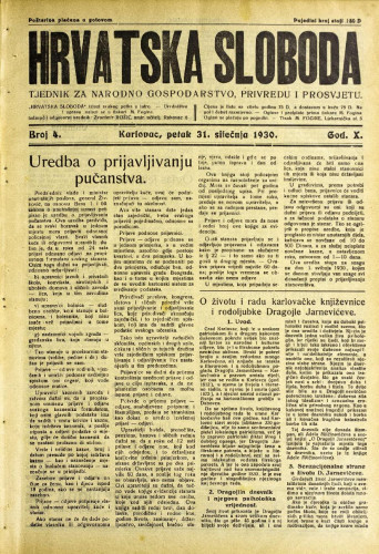 Hrvatska sloboda: 1930. • 4