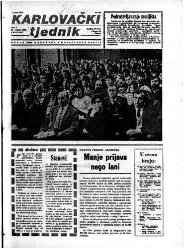 Karlovački tjednik: 1985 • 7