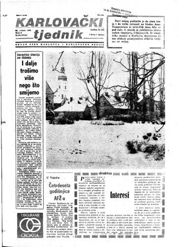 Karlovački tjednik: 1982 • 8