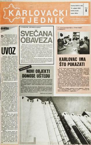 Karlovački tjednik: 1987 • 6