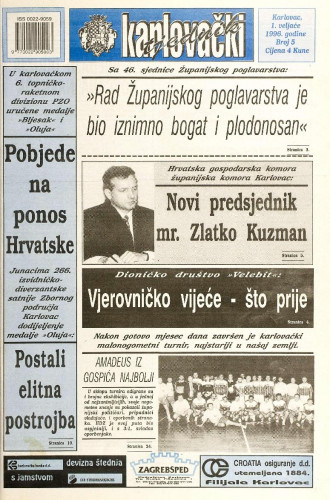 Karlovački tjednik: 1996 • 5