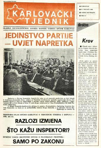 Karlovački tjednik: 1988 • 8