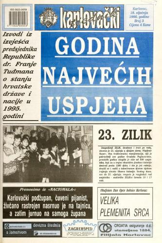 Karlovački tjednik: 1996 • 3
