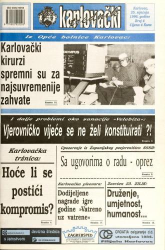 Karlovački tjednik: 1996 • 4