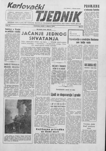 Karlovački tjednik: 1957 • 09