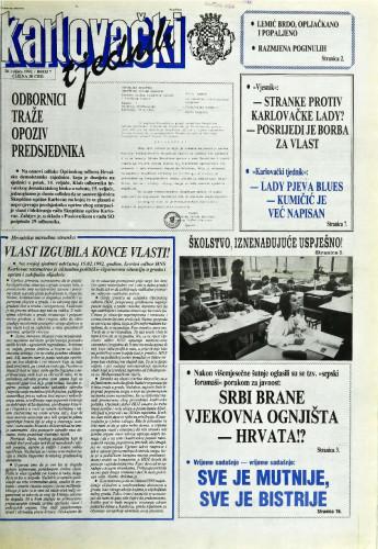 Karlovački tjednik: 1992 • 7