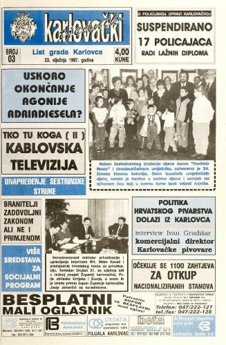 Karlovački tjednik: 1997 • 3
